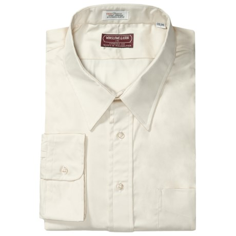 Winslowe & Krik by Gitman Brothers Cotton Pinpoint Oxford Dress Shirt - Long Sleeve (For Big & Tall Men)