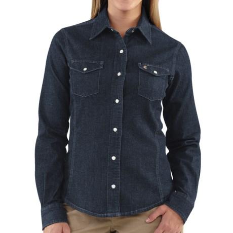 Carhartt Snap-Front Denim Shirt - Long Sleeve (For Women)