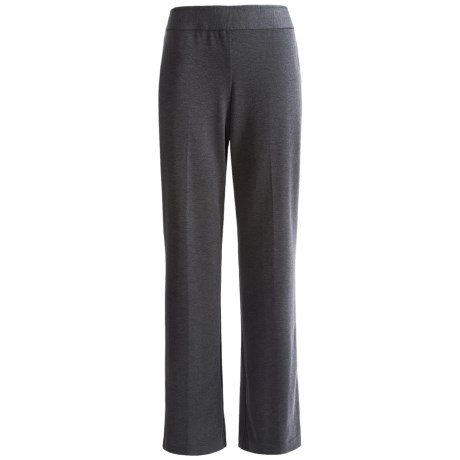 Ponte Knit Classic Career Pants (For Plus Size Women)