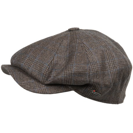 Wigens Wool Plaid Newsboy Cap (For Men)