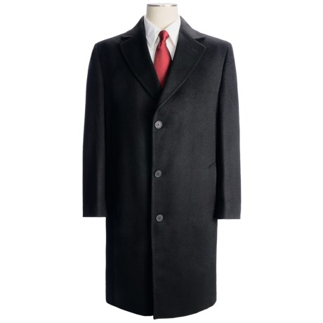 Wool-Cashmere Full-Length Top Coat (For Men)