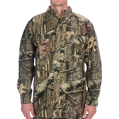Browning Wasatch Camo Shirt - Cotton Chamois, Long Sleeve (For Big Men)