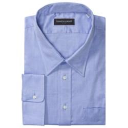 Kenneth Gordon Twill Dress Shirt - Modified Spread Collar, Long Sleeve (For Tall Men)