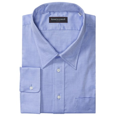 Gitman Brothers Kenneth Gordon Twill Dress Shirt - Modified Spread Collar, Long Sleeve (For Tall Men)