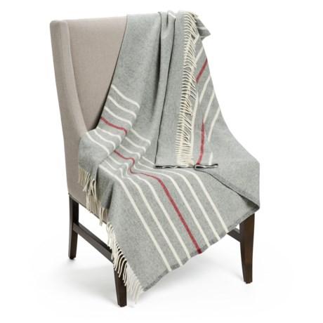 "Faribault Woolen Mill Co. Rolled Fringe Throw Blanket - 50x60"", Virgin Wool"