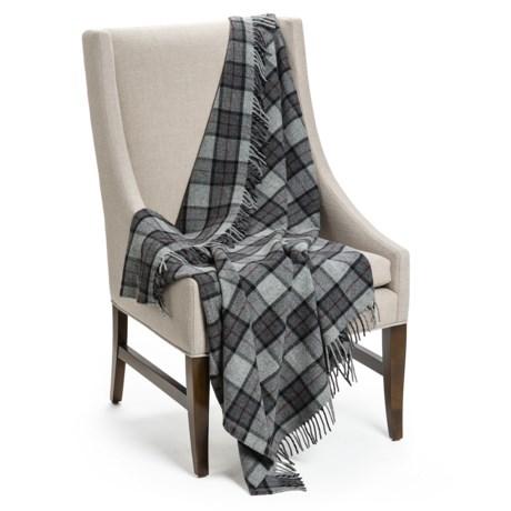 "Faribault Woolen Mill Co . Reed Plaid Throw Blanket - Merino Wool, 50x60"""