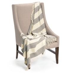 Faribault Woolen Mills Co. Awning Stripe Throw Blanket - Merino Wool