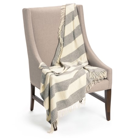 Faribault Woolen Mills Co. Awning Stripe Throw Blanket - Merino Wool