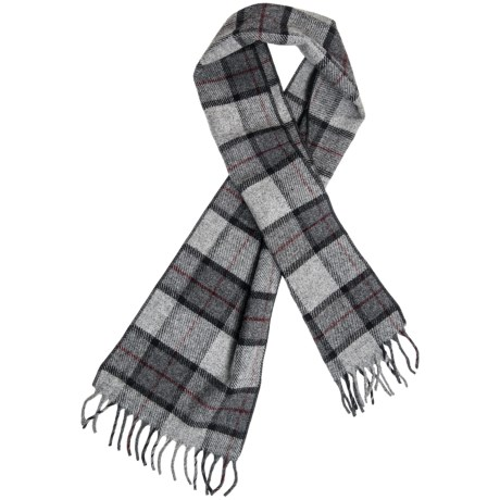 "Faribault Woolen Mills Reed Plaid Scarf - Merino Wool, 60"" (For Men and Women)"
