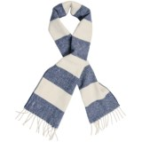 "Faribault Woolen Mills Awning Stripe Scarf - Merino Wool, 60"" (For Men and Women)"