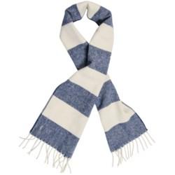 "Faribault Woolen Mills Awning Stripe Scarf - Merino Wool, 60"" (For Men and Women)"