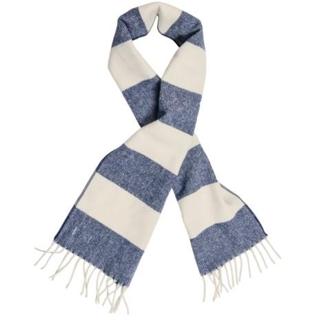 """Faribault Woolen Mill Co Faribault Woolen Mills Awning Stripe Scarf - Merino Wool, 60"""" (For Men and Women)"""