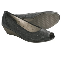Rieker Mary 55 Shoes - Leather, Peep Toe, Wedge Heel (For Women)