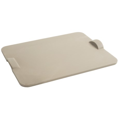 Emile Henry Unglazed Ceramic Baking Stone with Handles