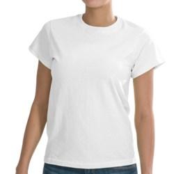Gildan Solid Cotton T-Shirt - Short Sleeve (For Women)