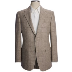 Hickey Freeman Fancy Large Windowpane Overlay Sport Coat - Cashmere (For Men)