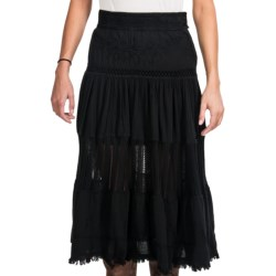 Scully Long Tiered Skirt - Peruvian Cotton (For Women)