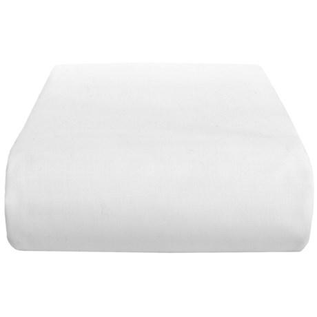 Chortex 200 TC Cotton Percale Solid Flat Sheet - Queen