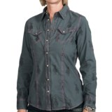 Barn Fly Pigment-Dyed Cotton Shirt - Snap Front, Long Sleeve (For Women)