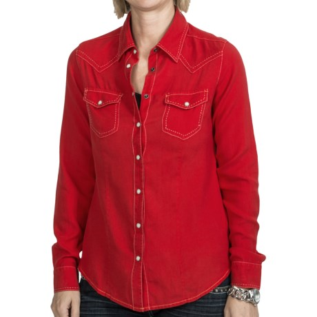 Ryan Michael The Classic Western Shirt - Snap Front, Long Sleeve (For Women)