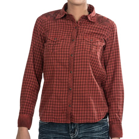 Ryan Michael LA Cowgirl Western Shirt - Snap Front, Long Sleeve (For Women)