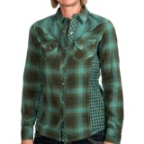 Ryan Michael The Double Diamond Shirt - Snap Front, Long Sleeve (For Women)