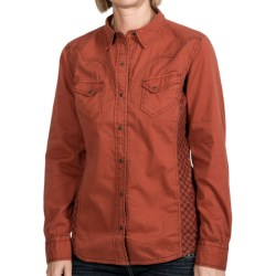 Ryan Michael The Double Diamond Snap-Front Shirt - Gingham Insert, Long Sleeve (For Women)