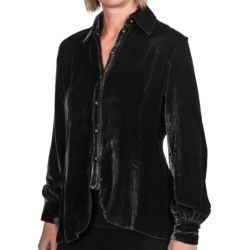 Ryan Michael 148 Drape Blouse - Long Sleeve (For Women)
