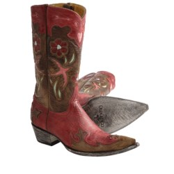 "Old Gringo Golondrita Vesuvio Cowboy Boots - 0-Toe, 12"" (For Women)"