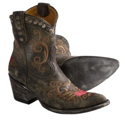 "Old Gringo Little G Cowboy Boots - Crackled Leather, Sintino Toe, 8"" (For Women)"