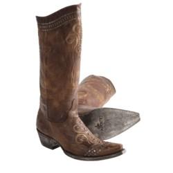 "Old Gringo Natty Vesuvio Cowboy Boots - 4Long Snip Toe, 13"" (For Women)"