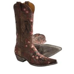 "Old Gringo Cherry Blossom Joy Vesuvio Cowboy Boots - O-Toe, 13"" (For Women)"