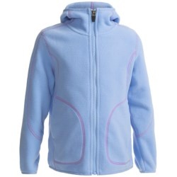 Polartec® Aircore 200 Fleece Jacket - Attached Hood (For Little Girls)