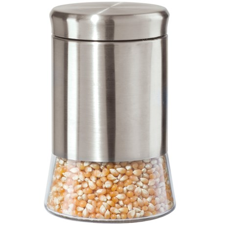 """OGGI 7"""" Stainless Steel and Glass Canister"""