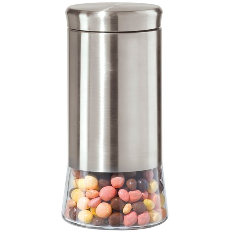 "OGGI 9"" Airtight Canister - Stainless Steel, Glass"