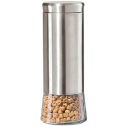 "OGGI 11.5"" Airtight Canister - Stainless Steel, Glass"