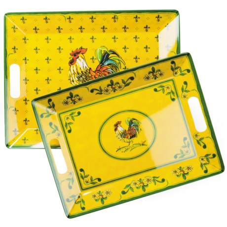 Le Cadeaux Gallina Nested Serving Trays - Set of 2