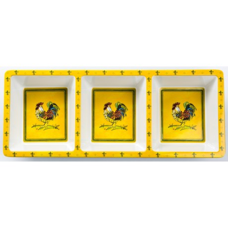Le Cadeaux Gallina 3-Compartment Serving Tray