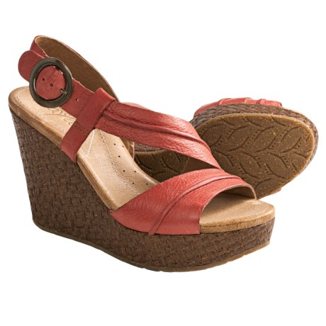 Naya Estra Wedge Sandals (For Women)