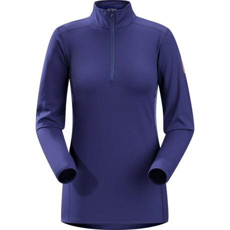 Arc'teryx Phase AR Base Layer Top - Midweight, Zip Neck, Long Sleeve (For Women)