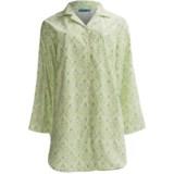 Needham Lane Cotton Nightshirt - Long Sleeve (For Plus Size Women)