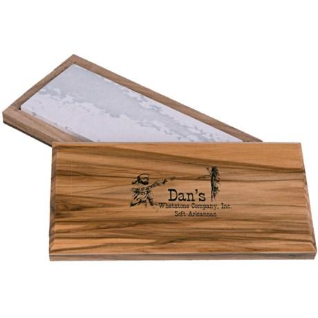 """Dan's Whetstone Bench Sharpening Stone - 6"""", Soft Arkansas Stone"""