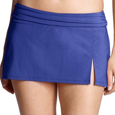 Lands' End Lela Beach Mini Skirt Swim Bottoms - Built-In Briefs (For Women)