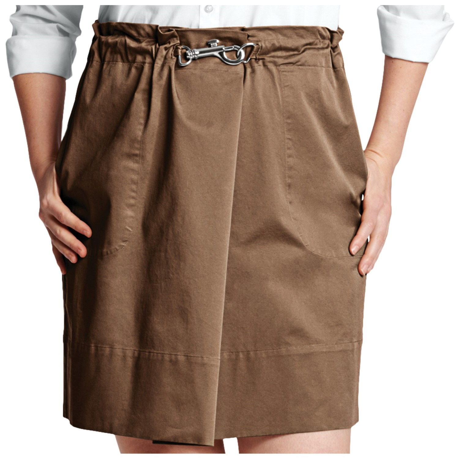 lands end cotton twill skirt for plus size 6582p