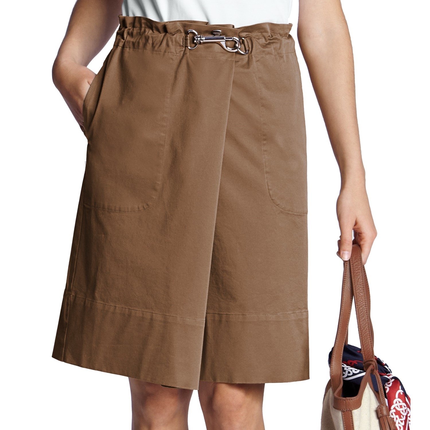 lands end cotton twill skirt for 6582r