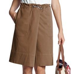 Lands' End Cotton Twill Skirt - Clip Waist (For Women)