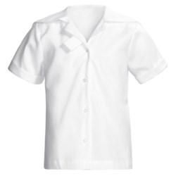 Lands' End Middy Uniform Blouse - Sailor Collar, Short Sleeve (For Women)