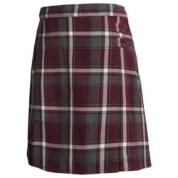 Lands' End A-Line Plaid Uniform Skirt - Knee Length (For Little and Big Girls)