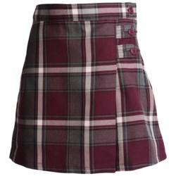 Lands' End A-Line Plaid Uniform Skirt - Knee Length (For Little Girls)