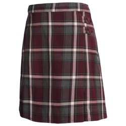 Lands' End A-Line Uniform Plaid Uniform Skirt - Knee Length (For Youth Girls)